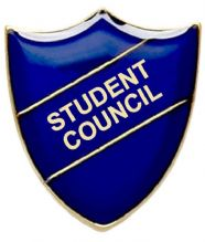Student Council Shield Badge Blue